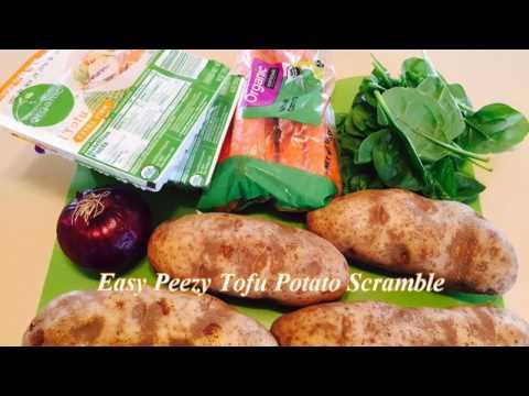 How to make A Easy Tofu Potato Scramble eggs Vegan style