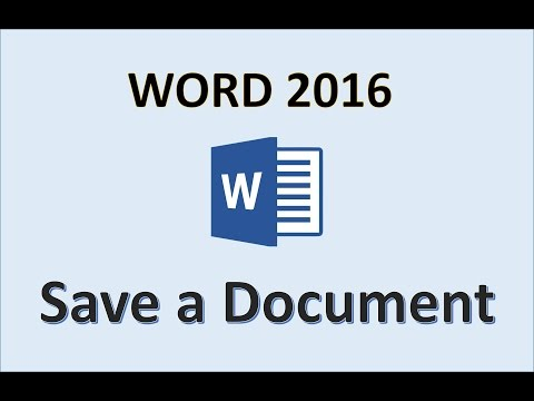 Word 2016 - Saving Documents - How To Save a Document in Microsoft Word File on Windows 10 One Drive