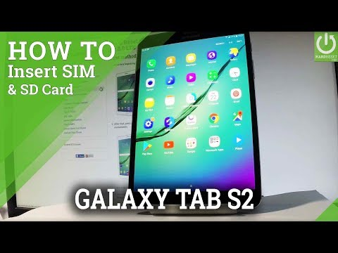 How to Insert SIM & SD in SAMSUNG Galaxy Tab S2 - Set Up SIM & SD