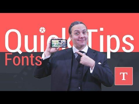 Fonts - KineMaster Quick Tips