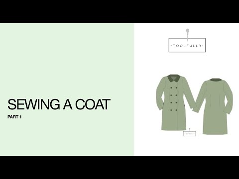 Coat with lining, sewing, part 1.
