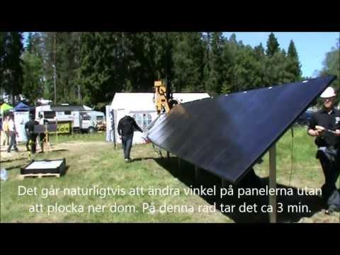 Ground mounting system for solar panels, Markmonteringssystem för solpaneler