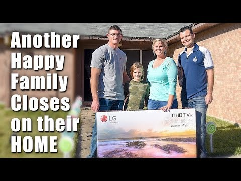 Another Happy Family Closed on Their Home and Won a BigScreen TV