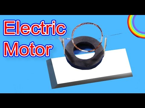 How to make a simple electric motor(DC)