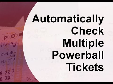 Automatically Check Multiple Powerball Tickets #Powerball #Lottery