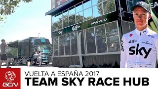 Inside The Team Sky Race Hub | Vuelta a España 2017