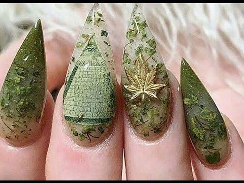 420 Nails - Weed Nail Art