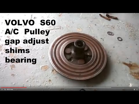 A/C compressor pulley and clutch repair (Volvo, other brands)