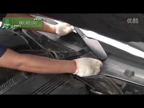 How to replace spray nozzle on Mercedes C200