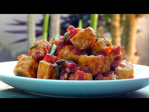 Vegan Vegetarian Vietnamese Recipe: Tofu in Tomato Pepper Sauce