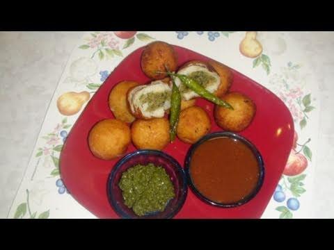 પેટીશ Recipe Video- Stuffed Aloo Tikki - Patties or Pattice - Stuffed Potato Balls