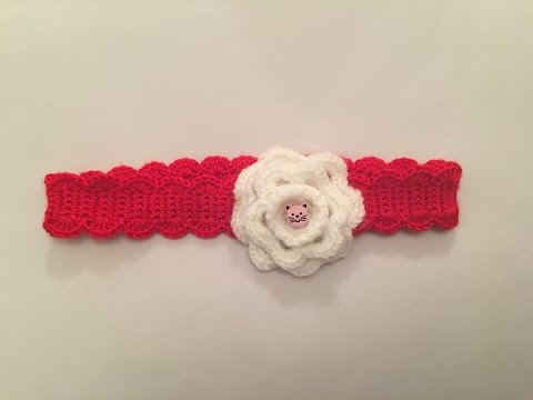 How to crochet easy headband for baby and a girl