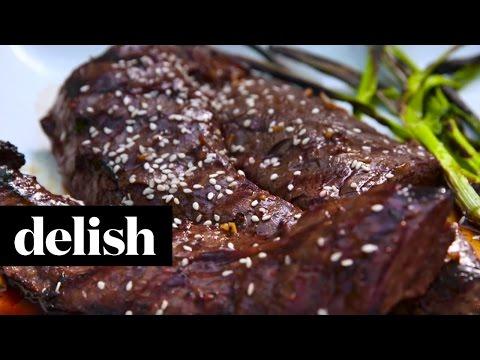 Grilled Teriyaki Steak | Delish