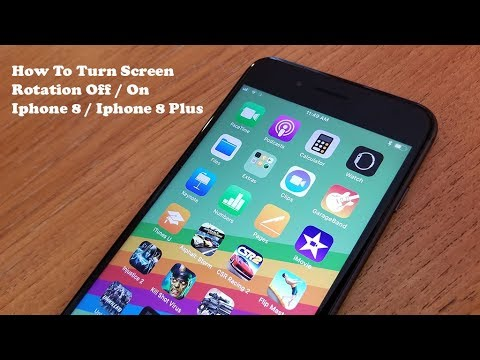 How To Turn Screen Rotation Off / On Iphone 8 / Iphone 8 Plus - Fliptroniks.com