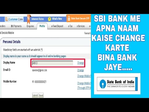 [Hindi] How to change your name in SBI online  Saving account Bank A/C without going to Bank Branch