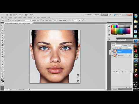 Easy photoshop tutorial on how to shape eyebrows