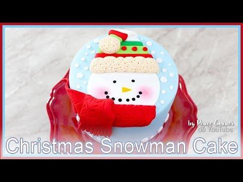 Christmas Snowman Cake   Renee Conner