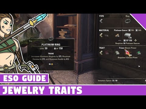 Jewelry Crafting Traits - How to Get Them Elder Scrolls Online Summerset