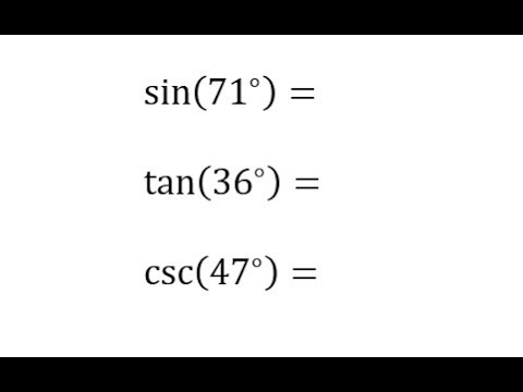 Cofunction Identities for Sine, Tangent, and Cosecant
