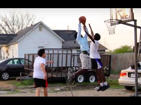 Epic 2 On 2 Basketball Game With Nerd in the HOOD!