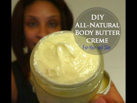 DIY || ALL-VEGAN SHEA BODY BUTTER CREAM (Homemade Shea Lotion) |  Misty Blú