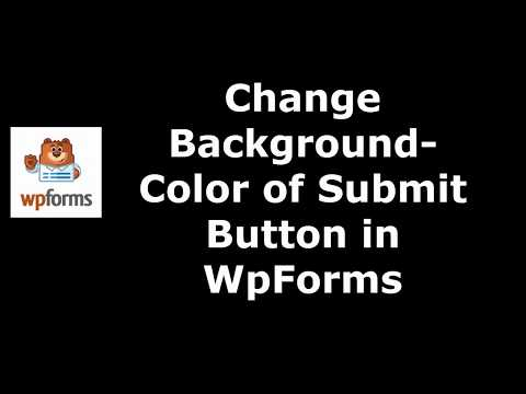 Trick to Set Submit Button Background Color in WpForms