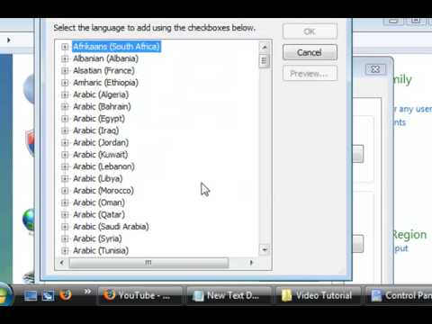 how to Set Language and Region