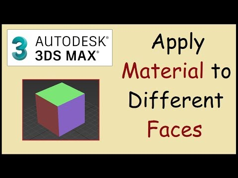 How to apply material to one face only in 3ds MAX