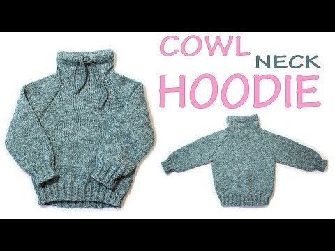 Easy Knitting baby sweater Baby hoodie top down Raglan Knit in hem Wika crochet