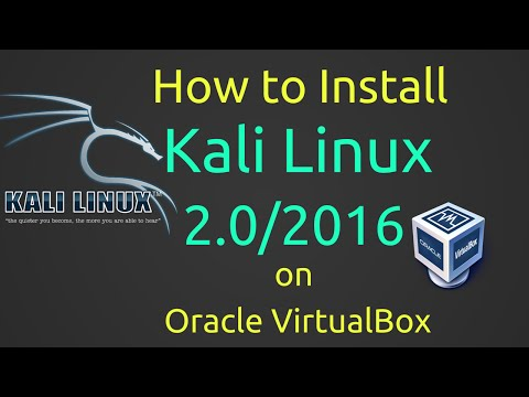 How to Install Kali Linux 2.0/2016 + Guest Additions on VirtualBox
