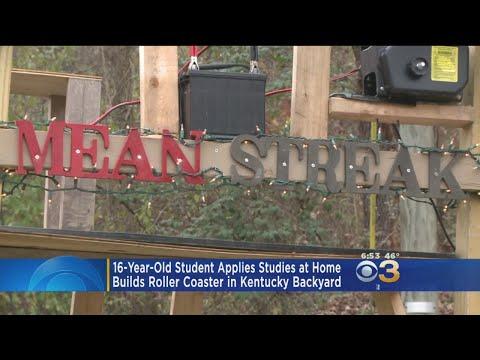 Teenager Applies Studies At Home To Make Backyard Roller Coaster