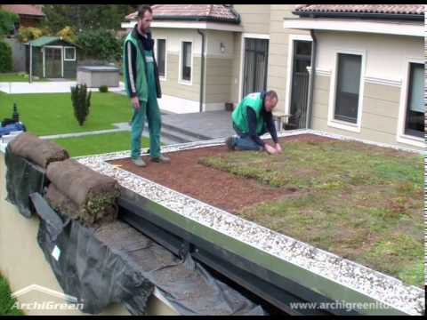 ArchiGreen Ltd - Building an extensive green roof in a couple of hours