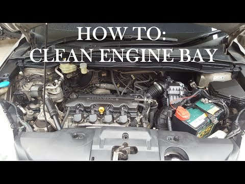 How to Clean Engine bay Honda CRV