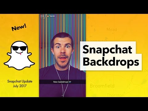 How to Use Snapchat Backdrops