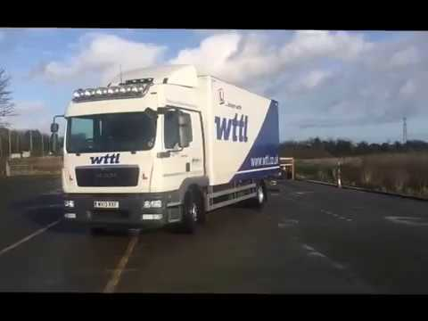 Category C Rigid lorry driving test reverse exercise
