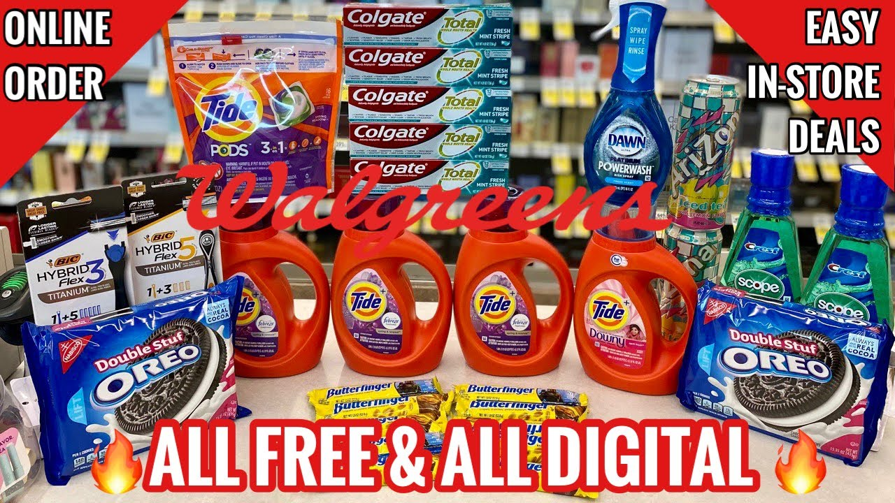 WALGREENS COUPON DEALS   In-Store + ALL Digital Online  Tide & Dawn Stock Up Time! 🙌🏽   6/13 - 6/19