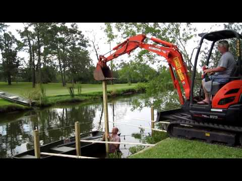 How to build a pier by Tommy Reece Baytown TX
