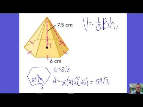 12.5 Volume of Regular Hexagonal Pyramid