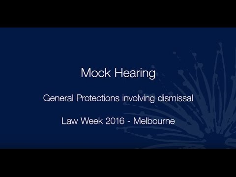Law Week 2016—Mock general protections hearing