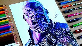 Download Thanos drawing with all infinity stone | Avenger - infinity war | Video