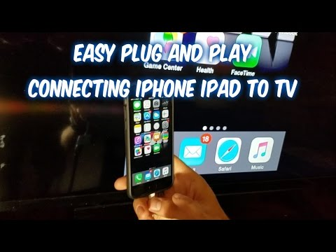 How to connect iPhone iPad to TV screen with wire cable