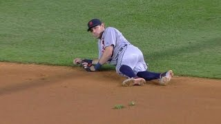 Download Kinsler slips, spikes ball into the ground Video