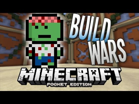 NEW BUILD WARS SERVER! - InPVP MINIGAME - Minecraft PE (Pocket Edition) - 0.11.1
