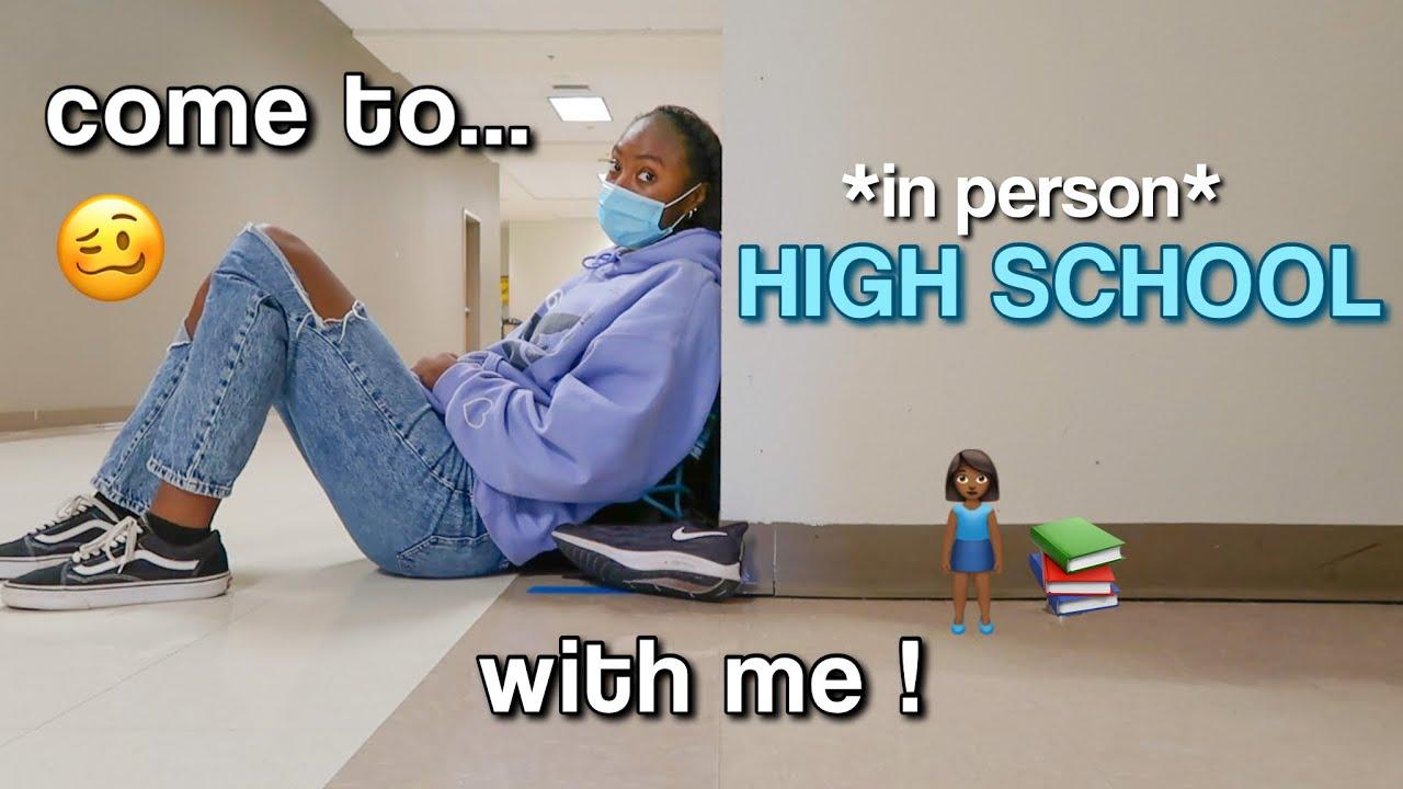 *IN PERSON*  HIGH SCHOOL DAY IN MY LIFE ! | GRWM + VLOG | AZARIA PURDY