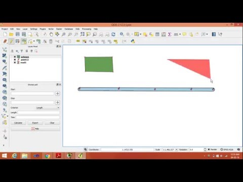 create vector layer point,line,polygon in QGIS.