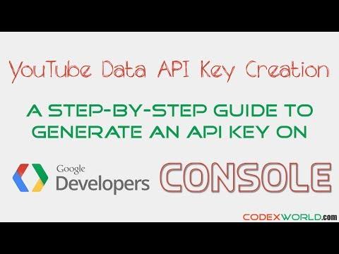 How to Create YouTube Data API Key