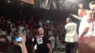 YG fight on stage Phoenix concert
