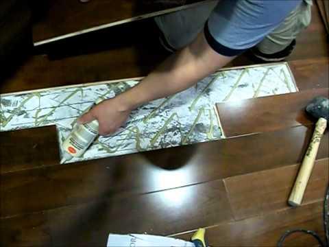 Repairing Hardwood Floors: How to Replace Hardwood Floor Boards Glue Down  MrYoucandoityourself