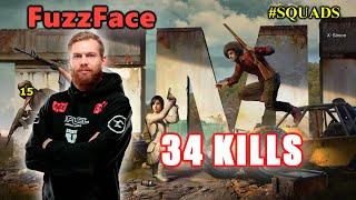 FaZe FuzzFace, Drassel & Alisa - 34 KILLS - SQUAD - PUBG