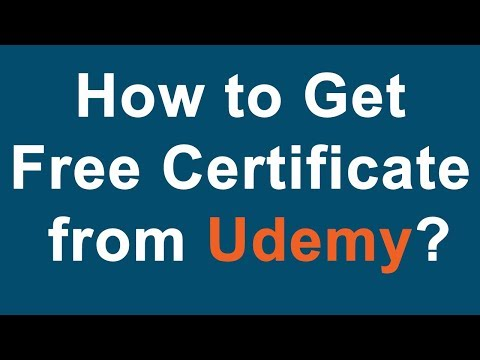 How to Get  Free Certificate  from Udemy?